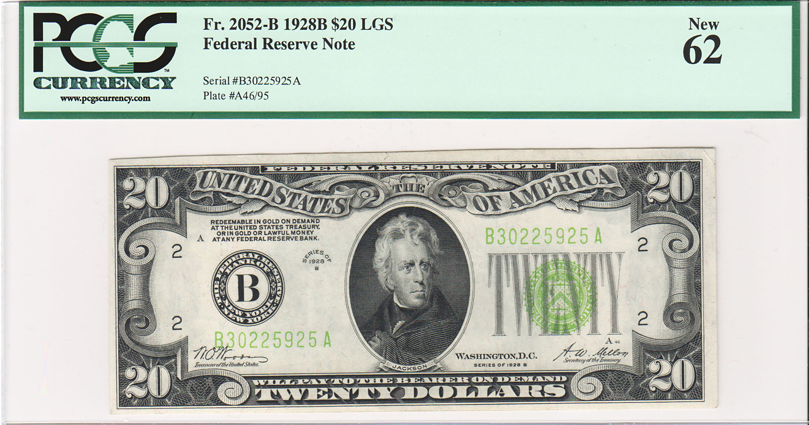 1977 100 dollar bill security features - Pcgs New 62