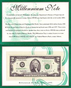 $2 1995 Atlanta Star 1st Printing Type Choice Crisp Uncirculated
