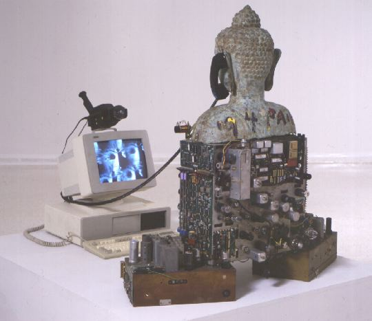 techno buddha: nam june paik - back view