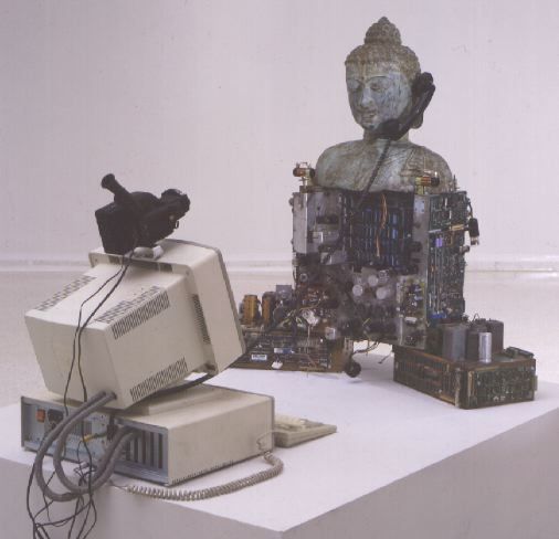 techno buddha: nam june paik - front view
