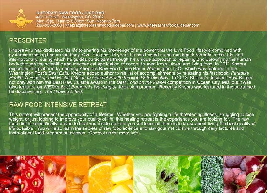 raw food back workshop