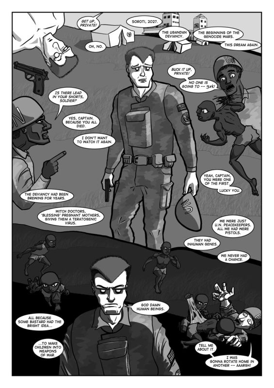 Latest page of Genocide Man.