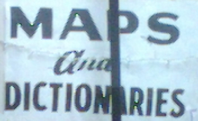 maps and dictionaries sign