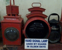 Hand signal lamp, used by guard in olden days